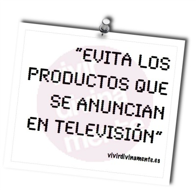 evita alimentos televisión