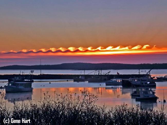 Un toque psicodélico en el cielo: Inestabilidad Kelvin-Helmholtz el día de Navidad