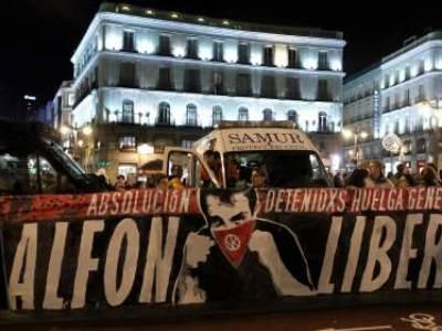 Manifestación en favor de la libertad de Alfon el pasado diciembre en Madrid/EFE