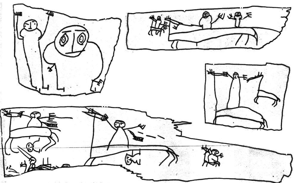 Garabatos de niños rusos del siglo XII Descubiertos en un pueblo medieval en el norte de Rusia, son los más antiguos dibujos infantiles conocidos, yo pensaría que muchas pinturas rupestres son el en fondo dibujos de niños, pero bien, en 1951 se descubrieron cientos de dibujos en cortezas de abedul, se datan entre en el siglo 11 y 15, también había todo tipo de documentos de época, listas, recibos de pago, cartas de amor, sigue para ver una reproducción de lo que dibujaban aquellos niños del medievo.