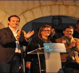 Manuela Meseguer y Bauzá en un mitin
