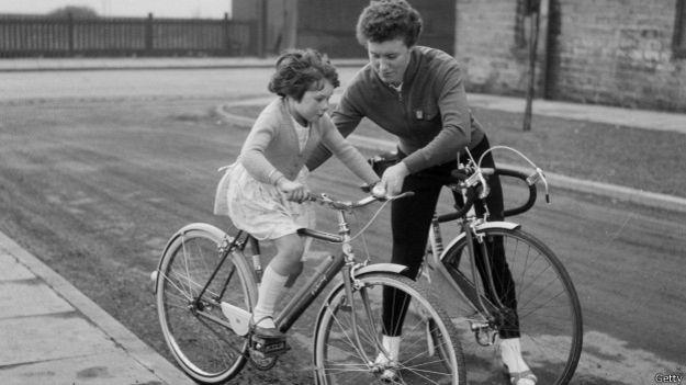 Beryl Burton y su hija