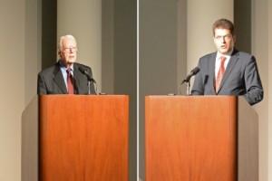 Janez, que firmó el comunicado de la OSCE contra España, comparte estrado con Jimmy Carter