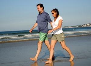 Elvira fue abucheada el pasado verano en una playa gallega